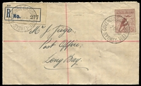 Lot 4336 [1 of 2]:1953 use of ½d & 1/- cancelled with 'G.P.O. SYDNEY