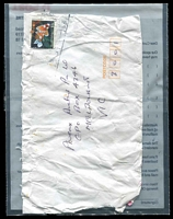 Lot 1009 [2 of 2]:2012 use of plastic ambulance envelope from Underwood Mail Centre, Qld. Contents is a letter which appears to be affected by the recent floods.