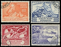 Lot 21821:1949 UPU SG #G21-24 set of 4, Cat £10.