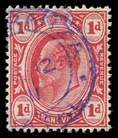 Lot 22796:Esperanza: violet double-circle '[ESPE]RANZA/?12/11/NA