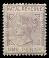Lot 3909:1885 Wmk Crown/CA: 1d lilac.