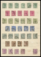 Lot 3953:1882-91 Wmk Crown/CA SG #97-103,107,113 ½d x6, 1d x5, 2d x6, 2½d x5, 3d grey x6, 4d x4, 6d x5, Cat £65. (37)