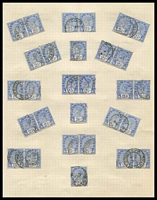 Lot 3908 [2 of 3]:1891 2½d SG #113 x102 mainly in pairs, Cat £150.