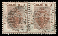 Lot 26558:10: 16-bar BN of Phillipolis on 1d red-brown pair.