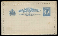 Lot 6791:1897 QV Bluish-Grey Paper HG #A2a 2d blue with paired perfs, odd tonespot.
