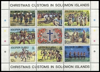 Lot 4622 [1 of 2]:1983 Christmas SG #498-507 set of 8 & sheetlet.