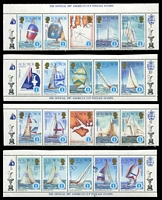 Lot 4623 [2 of 3]:1986 America's Cup SG #570-2 3 singles plus complete sheet split into 10 strips of 5.