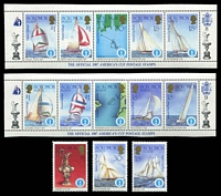 Lot 4623 [3 of 3]:1986 America's Cup SG #570-2 3 singles plus complete sheet split into 10 strips of 5.