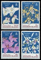 Lot 4624:1987 Orchids SG #602-5 set of 4.