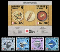 Lot 4625:1991 Phila Nippon SG #708-12 set of 4 & M/S.