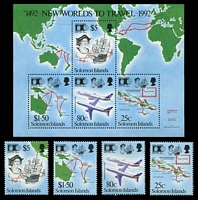 Lot 4376:1992 Discovery of America SG #728-32 set of 4 & M/S.
