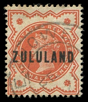 Lot 26269:Eshowe: double-circle 'ESHOWE/FE25/91' on ½d vermillion.