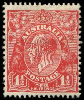 Lot 549:1½d Red Die II - BW #92cb booklet plate Wmk inverted, Cat $10.