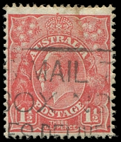 Lot 2715:1½d Red Die II - BW #92(3)e [3R30] Broken top to crown, minor soiling.