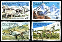 Lot 20834:1982 Reindeer SG #98-101 set of 4 CTO.