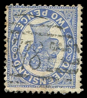 Lot 1749:378: BN on 2d Void-Oval. [Rated 2R]  Allocated to Curiwildi-PO 23/9/1884; renamed Dirranbandi PO 2/2/1886; closed 30/6/1887.
