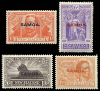 Lot 24089 [1 of 2]:1920 NZ Victory Opts SG #143-8 complete set of 6, Cat £32.