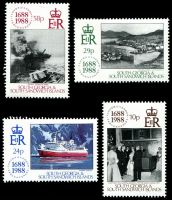Lot 4393:1988 Lloyd's Tercentenary SG #183-6 set of 4.