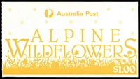 Lot 3647:1986 $1 Alpine Wildflowers cancelled with Adelaide FDI of 25AUG1986.