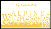 Lot 640:1986 $1 Alpine Wildflowers BW #B150 Harrison paper cancelled with Woden of 15MY87.