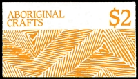 Lot 372:1987 $2 Aboriginal Crafts BW #B153 cancelled with Canberra Parliament House FDI of 13OCT1987.