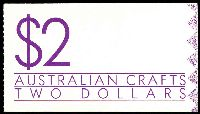 Lot 644:1988 $2 Australian Crafts BW #B161 cancelled with Canberra Parliament House FDI of 28SEP1988.