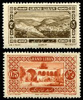Lot 24537:1925 Pictorials SG #61,65 0p75 brown-red & 2p sepia.
