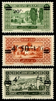 Lot 3890:1926 Surcharges SG #96,98,103 4p, 4p50 & 20p, Cat £18.50.