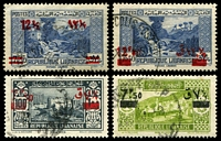 Lot 4044:1938-39 Surcharges SG #244-7 7p50 to 12½p. (4)