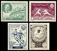 Lot 22434:1957 Pan-Arab Games SG #578-81 set of 4.