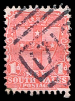 Lot 6106:1713: '1713' on 1d Arms.  Allocated to White Cliffs-PO 1/1/1894.