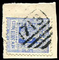 Lot 6382:1713: BN on 2d blue.  Allocated to White Cliffs-PO 1/1/1894.