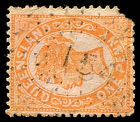 Lot 1702:154: rays on 1d Void-Oval (faults). [Rated R]  Allocated to Isistown-RO c.1885; PO 31/7/1886; renamed Isis Junction PO c.1892; renamed Isis PO c.1940.