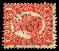 Lot 6920:167: rays on 1d 4-Corners. [Rated 2R]  Allocated to Yengarie-PO 1/7/1872; RO c.1900; PO 1/7/1927; closed 30/6/1976.