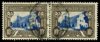 Lot 4442:1933-48 Pictorials, Rotogravure, Hyphenated SG #64c 10/- blue & sepia horizontal pair.