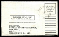 Lot 2051:Derwent Bridge: - 'DERWENT BRIDGE/1DE65/TAS-AUST' (arcs 1,1) on stampless Meteorological Return.  PO 15/2/1937; closed 29/8/1980.