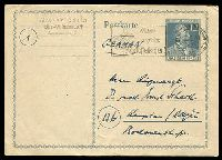 Lot 20226:1947 Von Stephan HG #I1116 12pf gray, commercially used from Charlottenburg on 17.5.47.