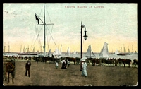 Lot 6313 [2 of 2]:Balmain: - framed 'BALMAIN/SP26/2-PM/05/N.S.W' arrival on PPC of 'YACHTS RACING AT COWES' .  PO 1/1/1850.