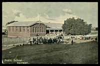 Lot 7152:Narrabri: - coloured PPC of 'Public School./Narrabri', sent under cover.  PO 1/6/1861.