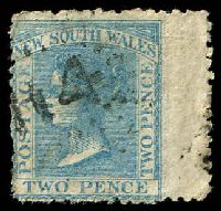 Lot 929:114: rays (2R21) on 2d blue DLR. [Rated 4R]  Allocated to Tambaroora-PO 9/7/1852; closed 31/3/1923.