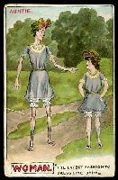 Lot 68:Comic: multi-coloured card of 'AUNTIE./THE LATEST FASHION TO/DRESS LIKE BABY', mailed Melbourne 1907, tear at left.