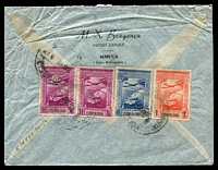 Lot 4098:1948 (Jul 28) use of 1t, 4½t (wrinkled) & 11t x2 Air on air cover to Australia, minor faults.