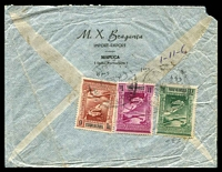 Lot 27479:1948 use of 7½t, 9t & 11t Airs on air cover to Australia, minor faults.