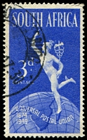 Lot 4578:1949 UPU SG #130a 3d Serif on C single [R1/1], not priced used Cat £48 as mint pair.
