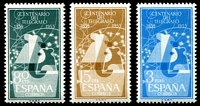 Lot 4367:1955 Telegraphs Centenary SG #1245-7 set of 3, Cat £35.