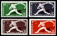 Lot 4596:1960 International Philatelic Congress SG #1349-52 Pelota Player set of 4, Cat £20.