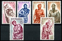 Lot 4684:1962 Alonso Berruguete SG #1499-1504 set of 6.