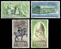 Lot 4184:1962 El Cid SG #1505-8 set of 4.