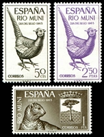 Lot 28074:1965 Pheasant & Leopard SG #66-8 set of 3.