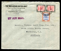 Lot 4686:1948 (Nov 5) use of 10m pair & 15m on air cover to Melbourne.